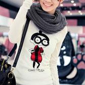 韩版圆领纯棉长袖T恤